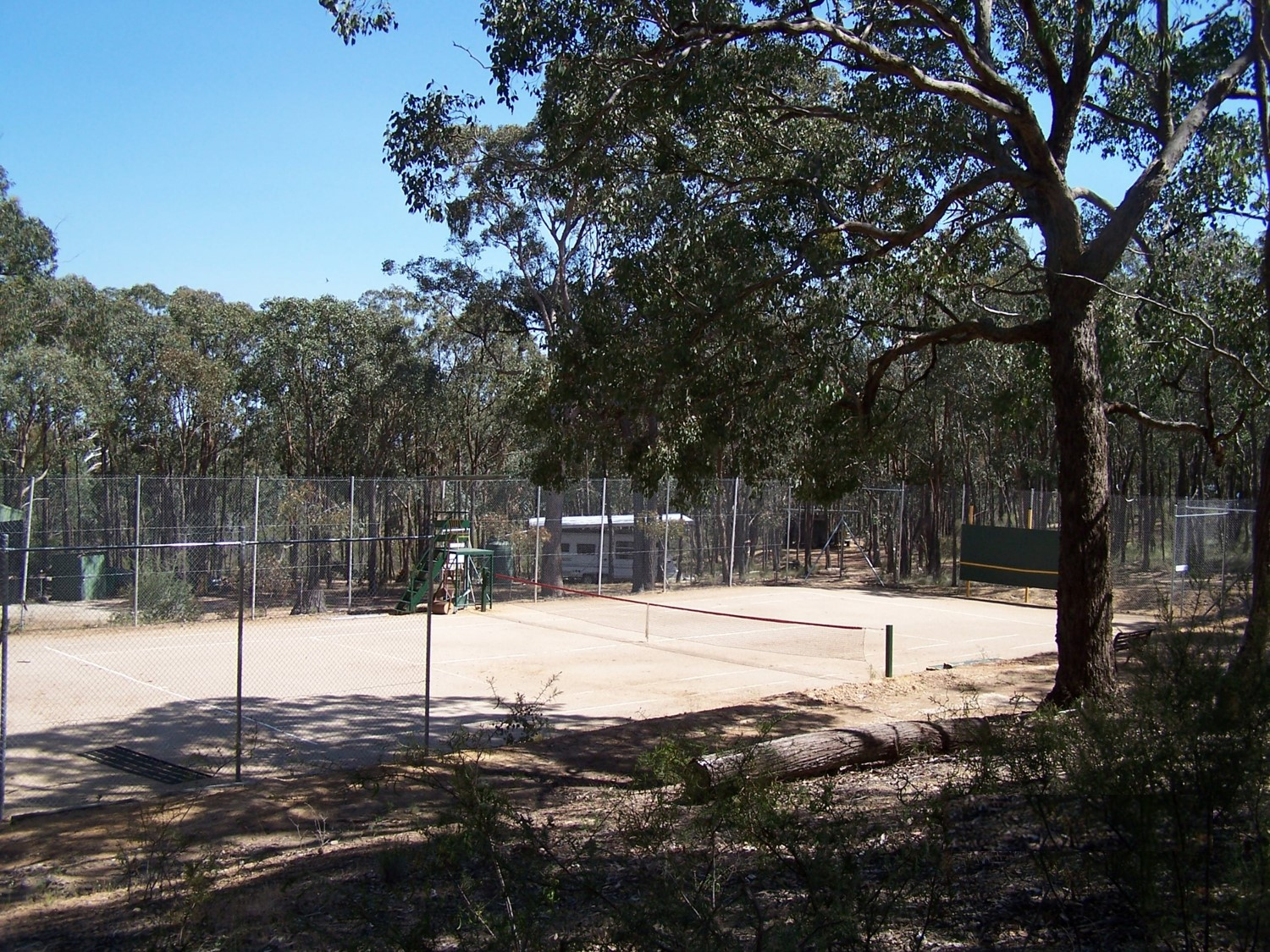 Tennis Court at Northside Country Club Nudist Grounds